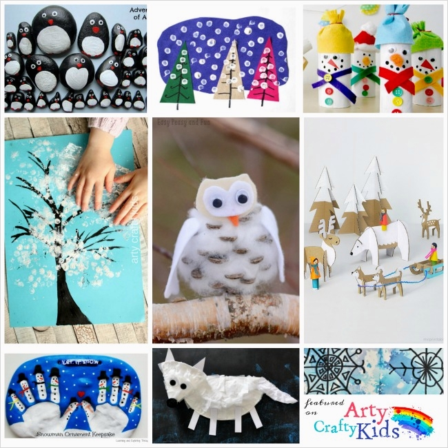 40 Diy Easy Winter Crafts 43 16 Easy Winter Crafts for Kids Arty Crafty Kids 3