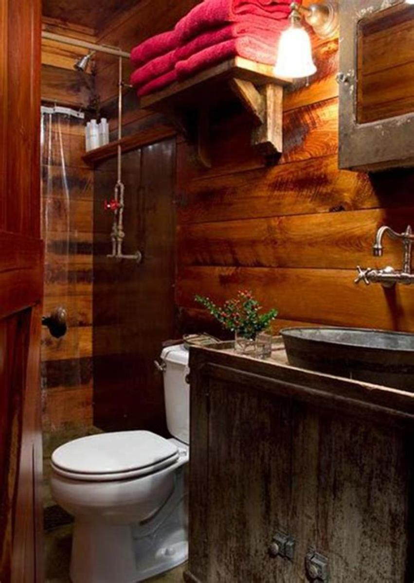 30 Best Rustic Bathroom Design and Decoration Ideas 2019 6