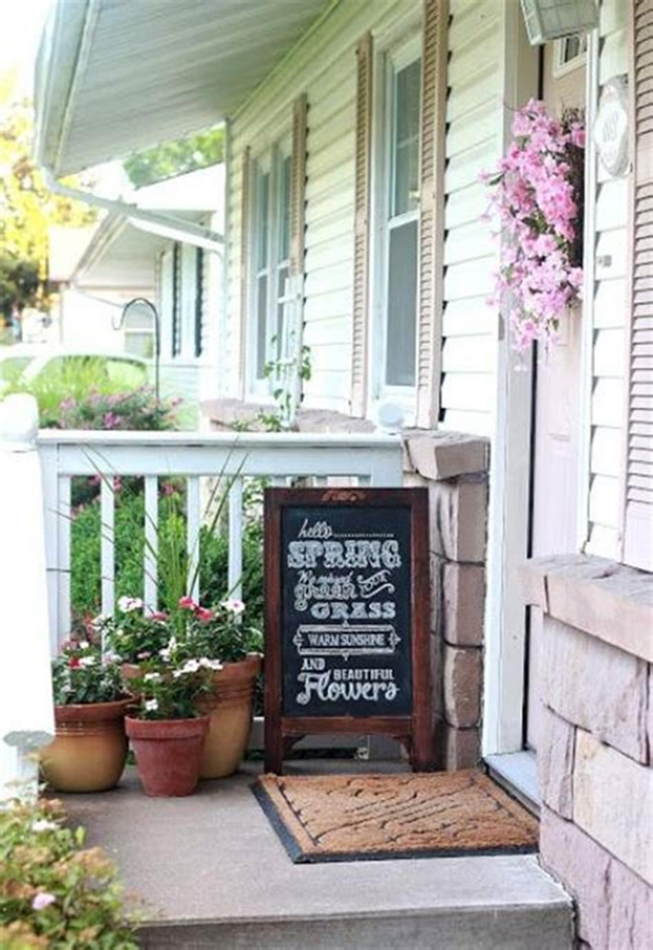 40 Beautiful Spring Front Porch Decorating Ideas You Will Love 30