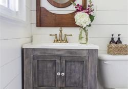 35 Cheap Country Rustic Farmhouse Bathroom Vanities Ideas 38