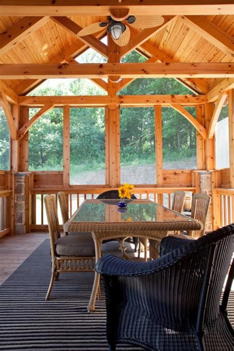 40 Best Screened Porch Design and Decorating Ideas On Budget 36