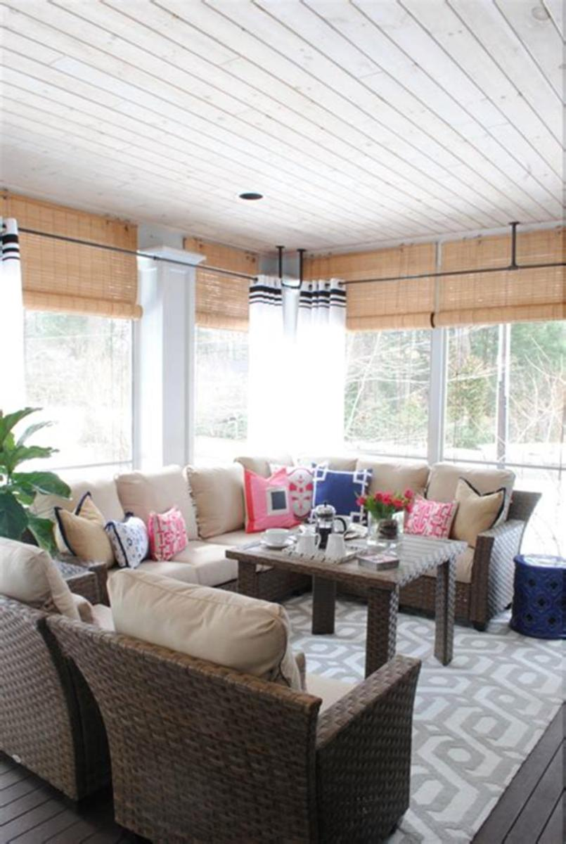 40 Best Screened Porch Design and Decorating Ideas On Budget 40