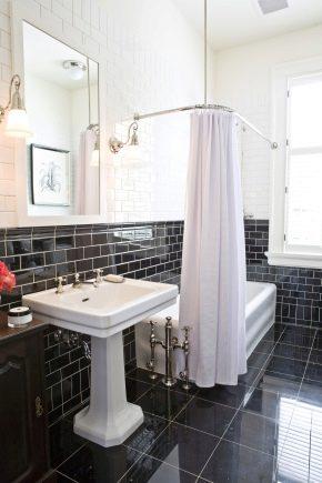 corner cornice for bathroom curtain