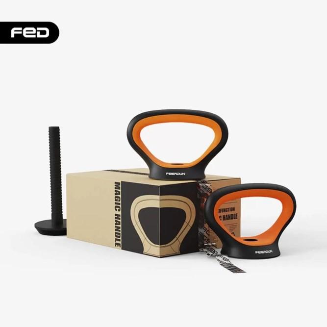 FEIERDUN Free Dumbbells Weights Set Adjustable Barbell Fitness Kettlebells Push Up Stand7