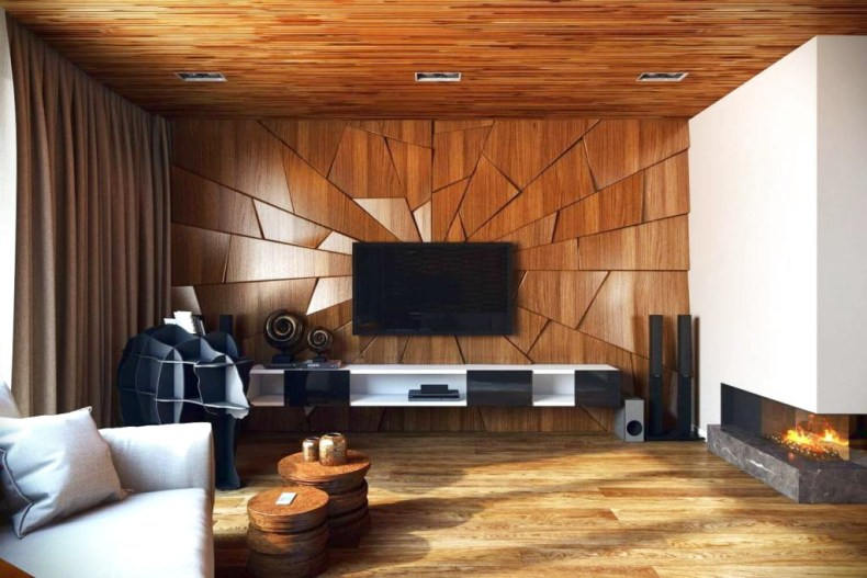 The Dramatic Impression On The Wooden Walls