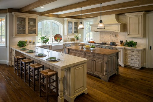 Cream Kitchen Cabinets Dark Wood Floors
