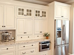 Cream Kitchen Cabinets With White Appliances (4)