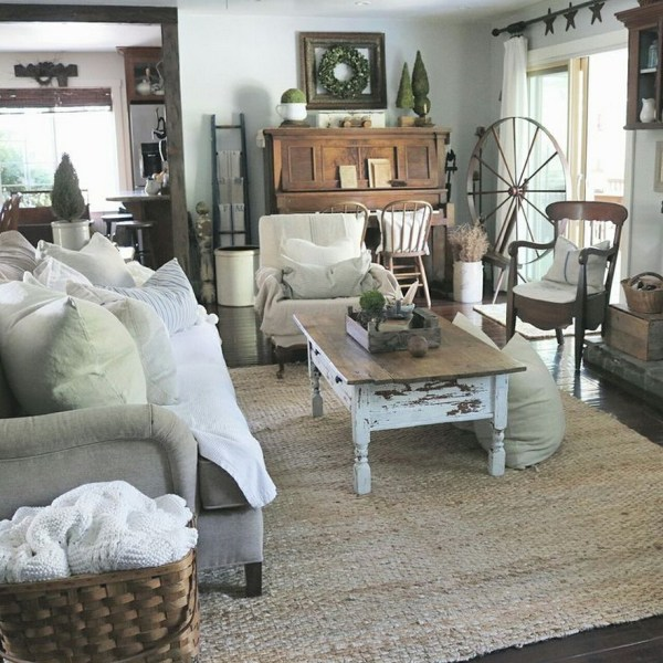 Gorgeous Farmhouse Living Room Decor Ideas And Designs (1)