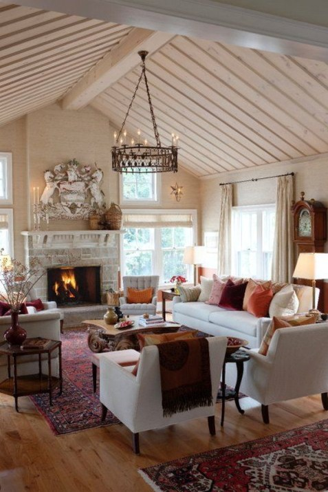 Gorgeous Farmhouse Living Room Decor Ideas And Designs (21)