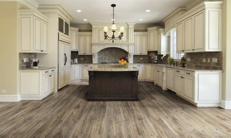 Large Kitchen With Cream Kitchen Cabinets Granite Countertops