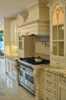 Luxury French Country Kitchen Cream Cabinets