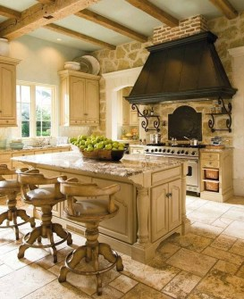 Rustic French Country Kitchen And Dining Room