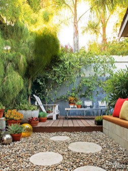 Decorating Deck With Potted Plants Backyard