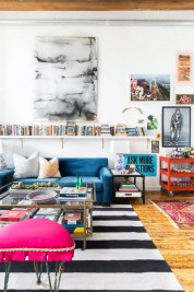 Eclectic And Quirky Living Room Decor Styling Ideas (23)