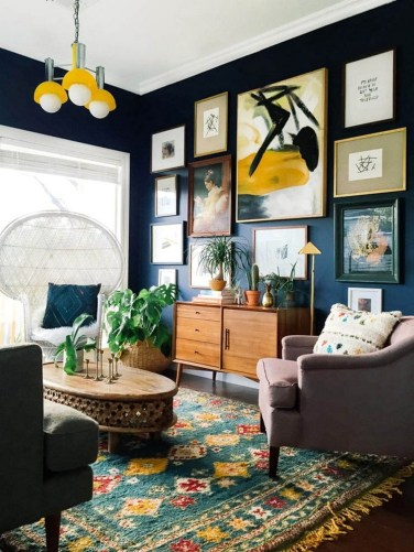 Eclectic And Quirky Living Room Decor Styling Ideas (25)