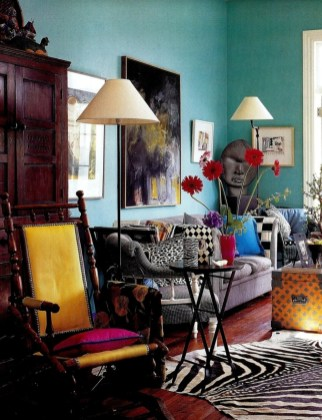 Eclectic And Quirky Living Room Decor Styling Ideas (36)