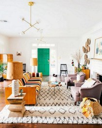 Eclectic And Quirky Living Room Decor Styling Ideas (61)