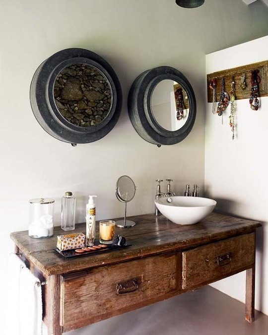 antique vanity units for bathroom - bathroom vintage style: giving