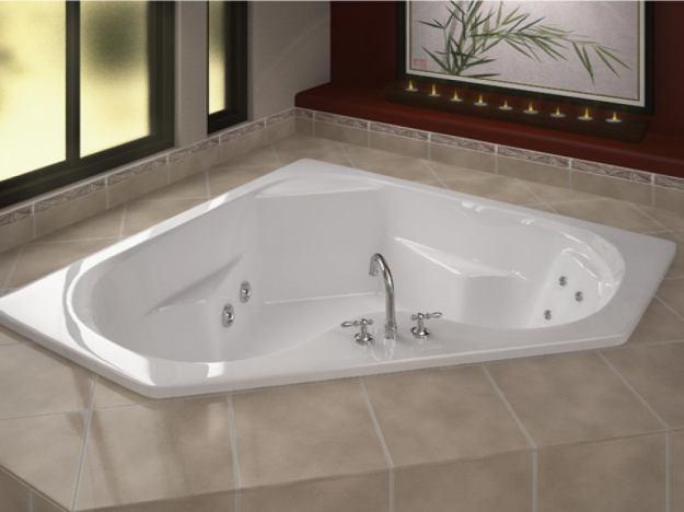 corner jacuzzi tub design ideas - different types of top modern
