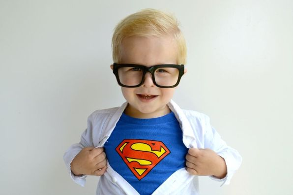 DIY Clark Kent Version of Superman for Boys