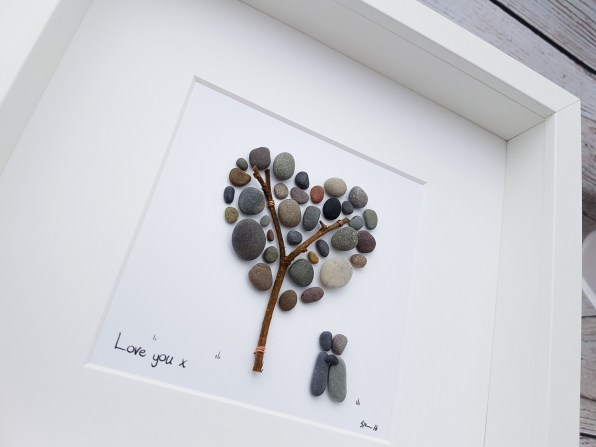 Valentine Pebble Art