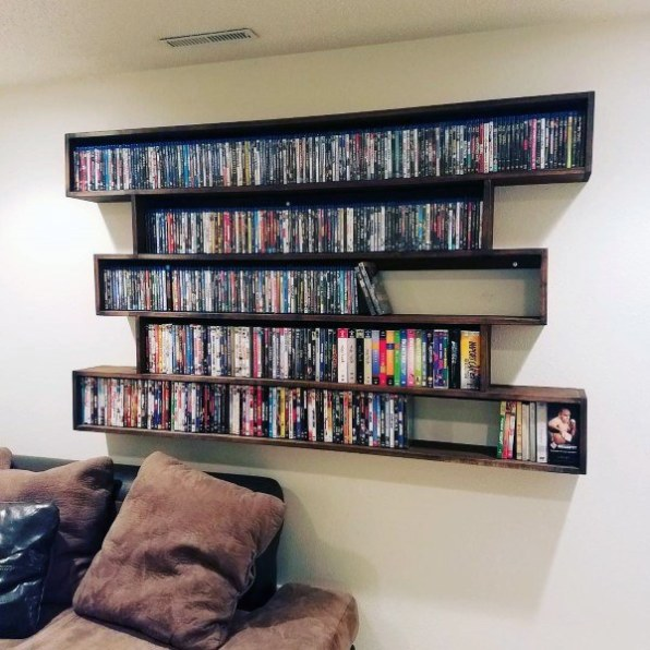 The Built-In DVD Shelves