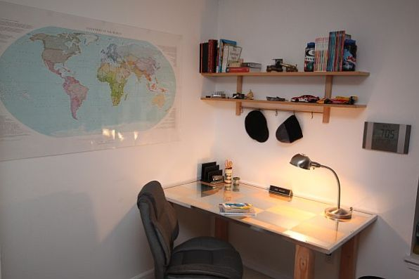 The Birch and Aluminum Desk