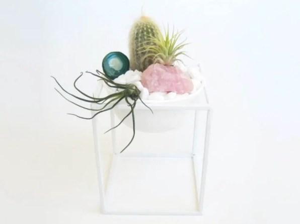 Metal Lantern Plant Stand