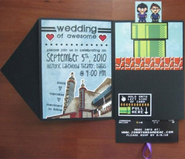 Gamers Couple Unique Wedding Invitation