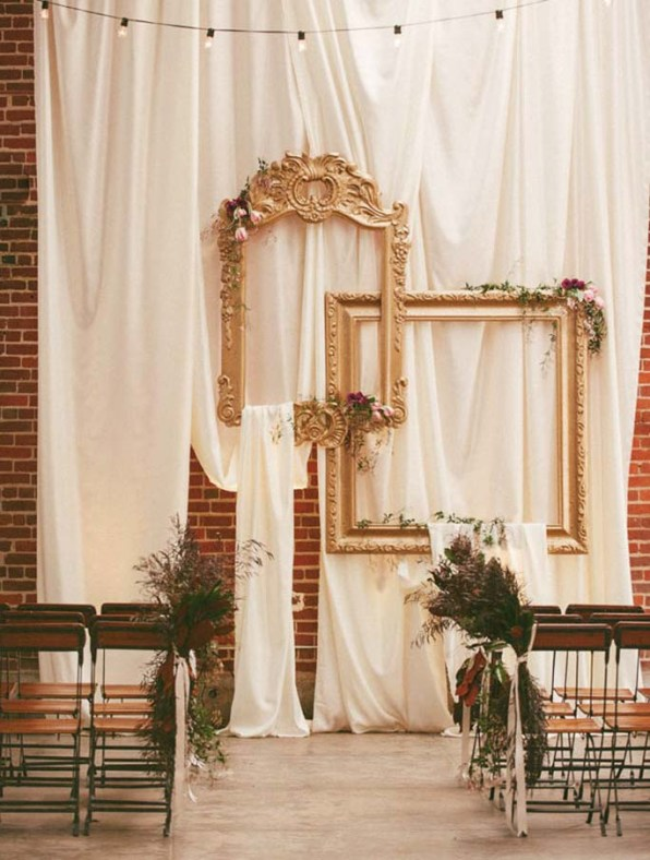 Classic Frames with a Curtain