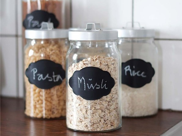 Chalkboard Glass Containers