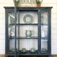 37+Farmhouse Hutch Decor Display China Cabinets The Ultimate Convenience 76