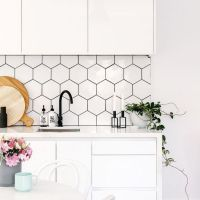 45 + All About Hexagon Backsplash Kitchen White Cabinets