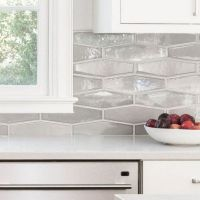 45 + All About Hexagon Backsplash Kitchen White Cabinets 53