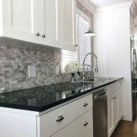 47 What You Can Do About Kitchen Backsplash with Dark Countertop White Cabinets