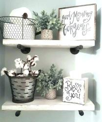 41 + Types Of Guest Bathroom Ideas Half Baths Floating Shelves 23