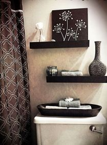 41 + Types Of Guest Bathroom Ideas Half Baths Floating Shelves 43