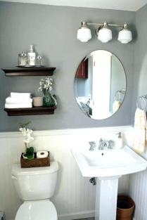 41 + Types Of Guest Bathroom Ideas Half Baths Floating Shelves 69