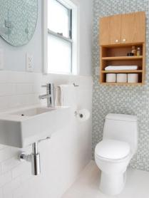 41 + Types Of Guest Bathroom Ideas Half Baths Floating Shelves 93