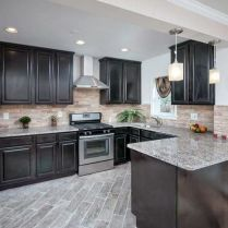 +44 Finding Dark Kitchen Cabinets And Light Granite 11