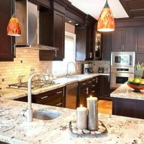 +44 Finding Dark Kitchen Cabinets And Light Granite 52