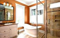46+That Will Motivate You Farmhouse Bathroom Colors Rustic 16