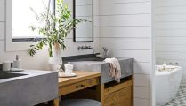 46+That Will Motivate You Farmhouse Bathroom Colors Rustic 96