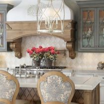 35+ Natural Rustic And Classic Glam Kitchen Decorating Ideas 95