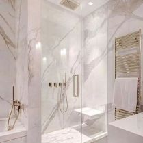 40 Awesome Marble In Shower Design Ideas To Inspire You 27