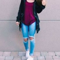 What Everyone Does When It Comes To Fall Outfits For Teen Girls For School Casual Jeans 103