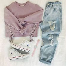 What Everyone Does When It Comes To Fall Outfits For Teen Girls For School Casual Jeans 48