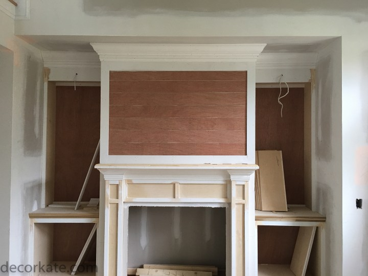 Building a Fireplace with Built-Ins