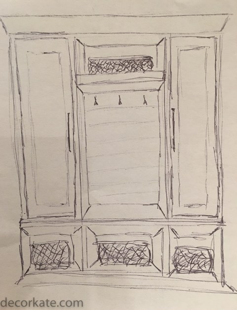 Mudroom Build-Ins Concept