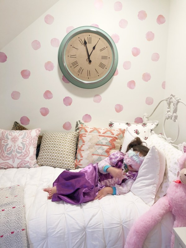 bed in playroom